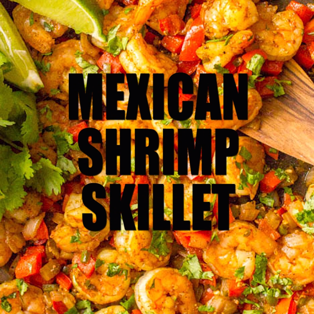 Mexican Shrimp Skillet #mexicanshrimprecipes