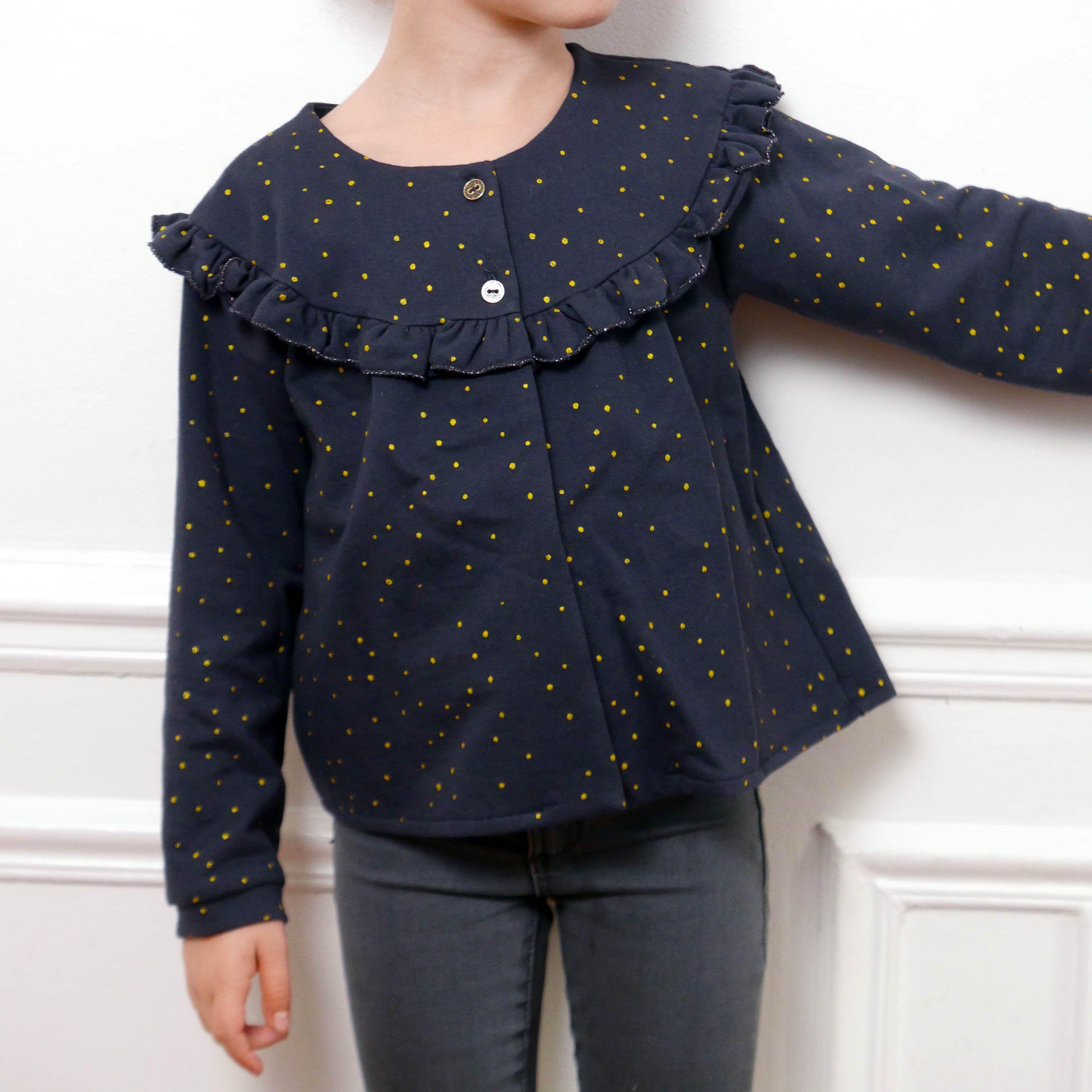 a6629f6b35f95 IRMA Cardigan or thin vest -Girl 3 12- PDF Sewing Pattern – Ikatee