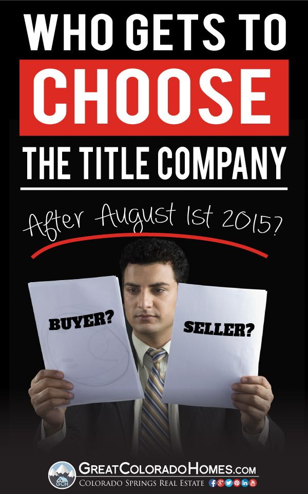 In Many Cities The Title Company Is Chosen By The Seller Because
