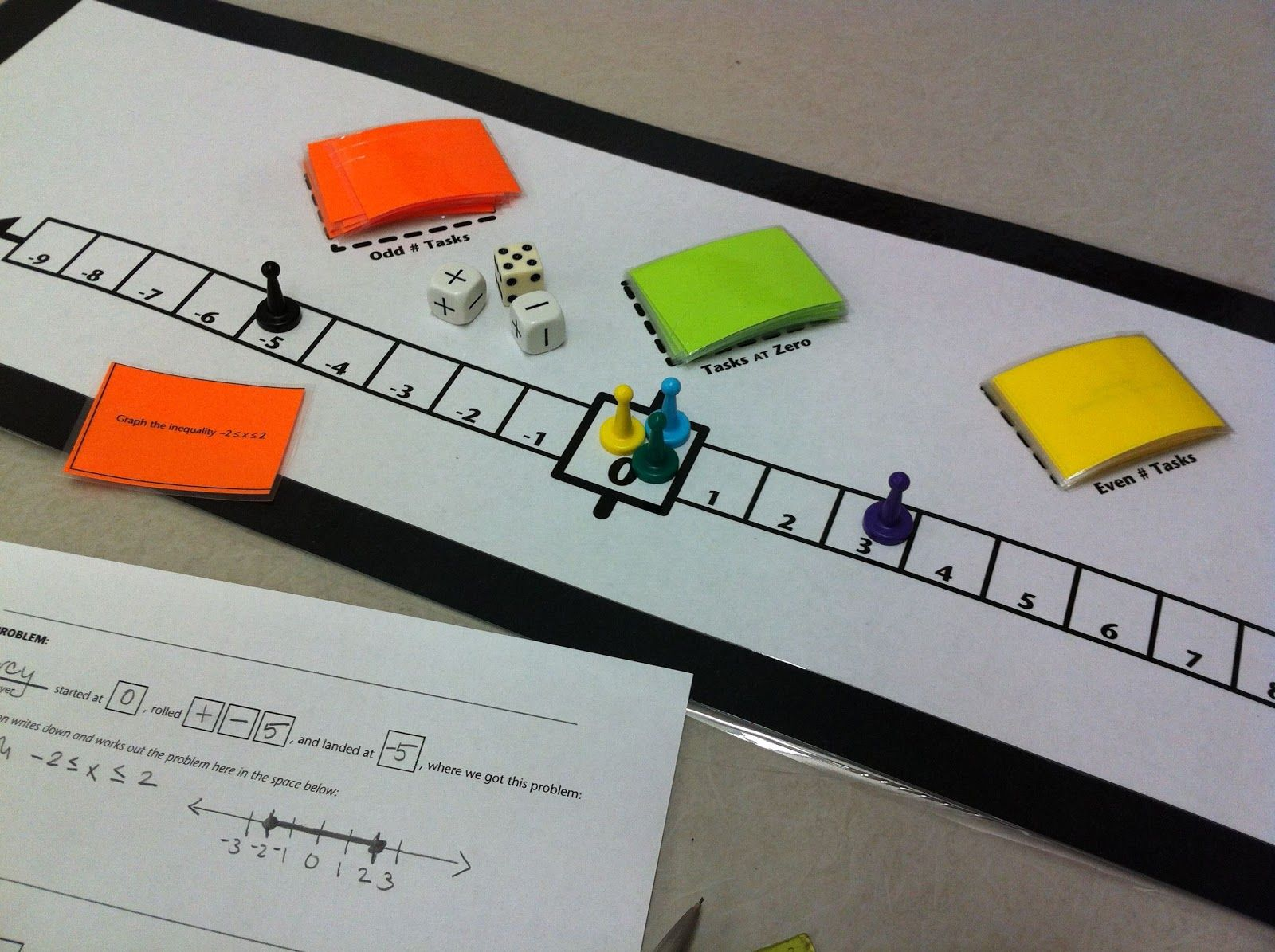 Fresh Ideas - cheesemonkey wonders Life on the Number Line board game
