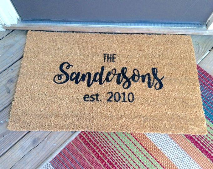 Personalized Doormat Custom Doormat Family Name Doormat Fun Doormats Design Your Own Doormat Front Door Unique Items Products Custom Clothes Door Mat