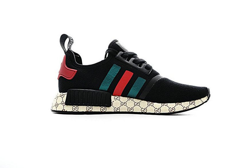 58be3c7162a Gucci X Adidas NMD Custom Black Red Green 259585 Spring Summer 2018 Really  Cheap Sneaker