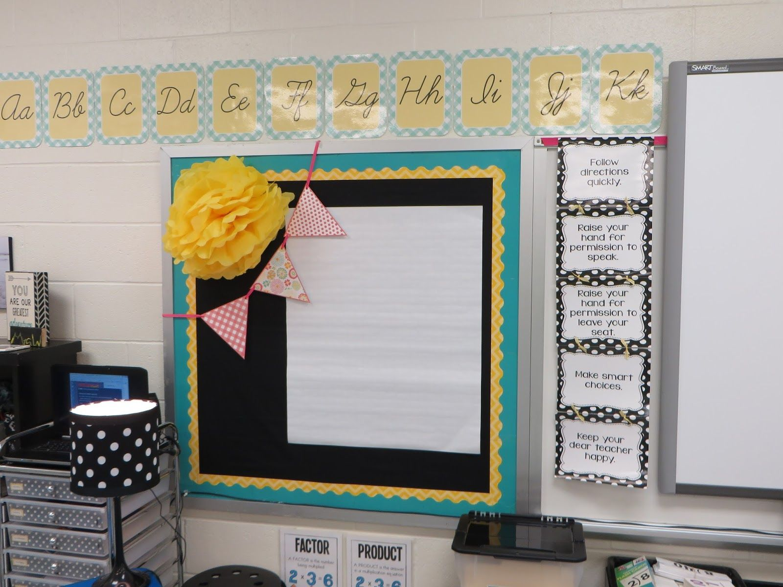 Yellow Classroom Decor : Teal and yellow on black classroom environment pinterest teal