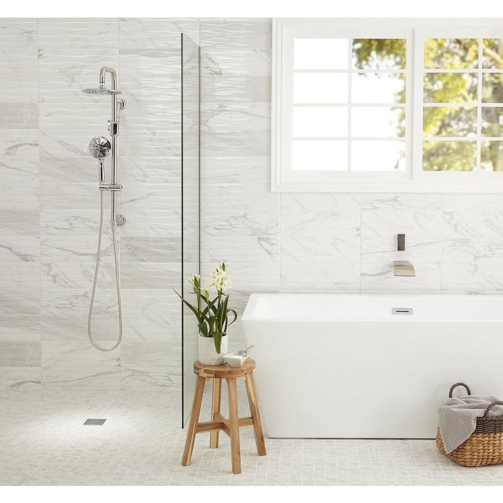 Marble Art Wave Polished Ceramic Tile Bathroom Shower Walls