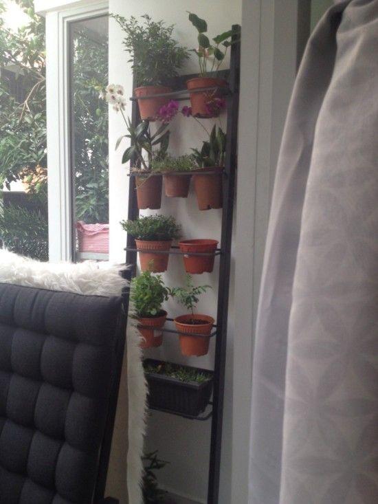 ikea towel hanger transformed   vertical garden
