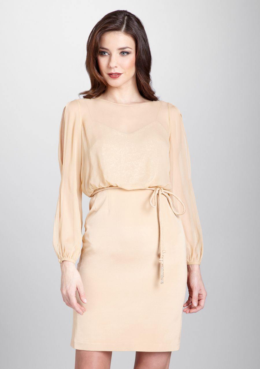 Kay Unger\'s soft, lovely nude dress | YES out | Pinterest | Nude ...