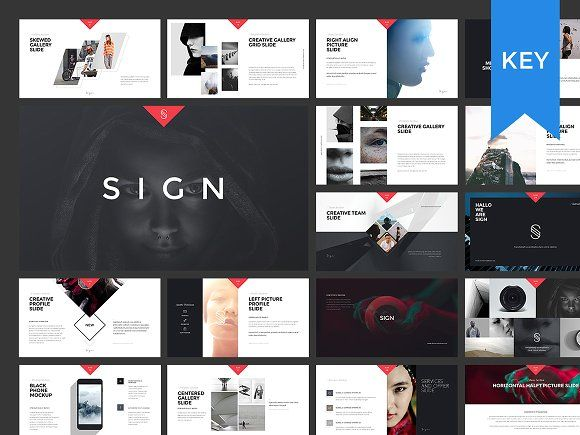 Sign Keynote Presentation Template  Mock Up Template And