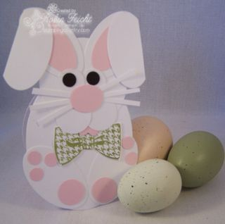 Easter Bunny Punch Art Card For Kids Craft Ideas Punch Art