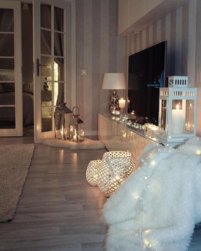 Good Night And Welcome December Livingroom Night Winterinterior Living Room Decor Apartment Cosy Room Apartment Decor