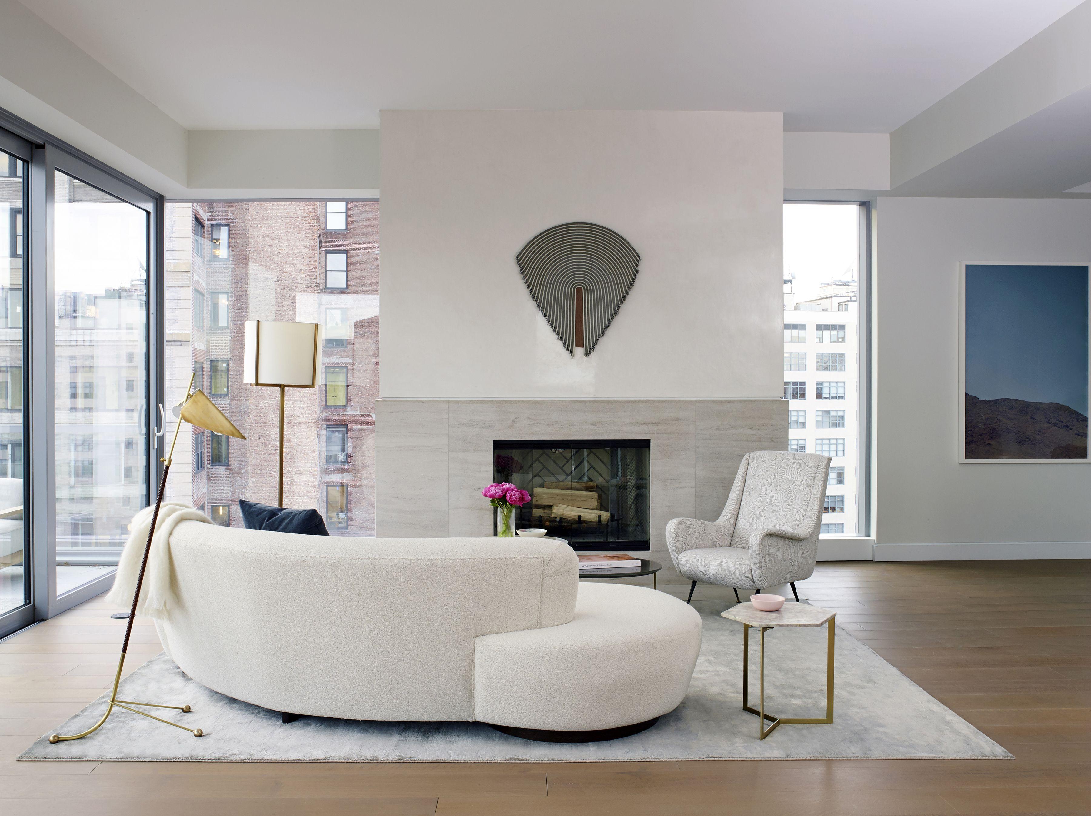 One Vandam PHA // Living Room // Fireplace   Studio DB Interiors ...