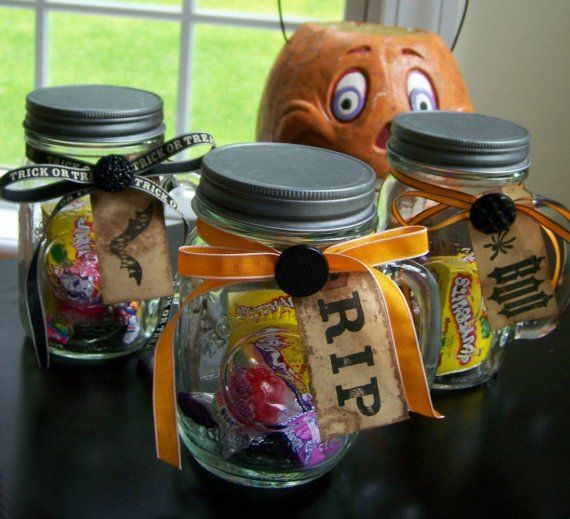 Halloween Treat Mason Jars With Handles Halloween