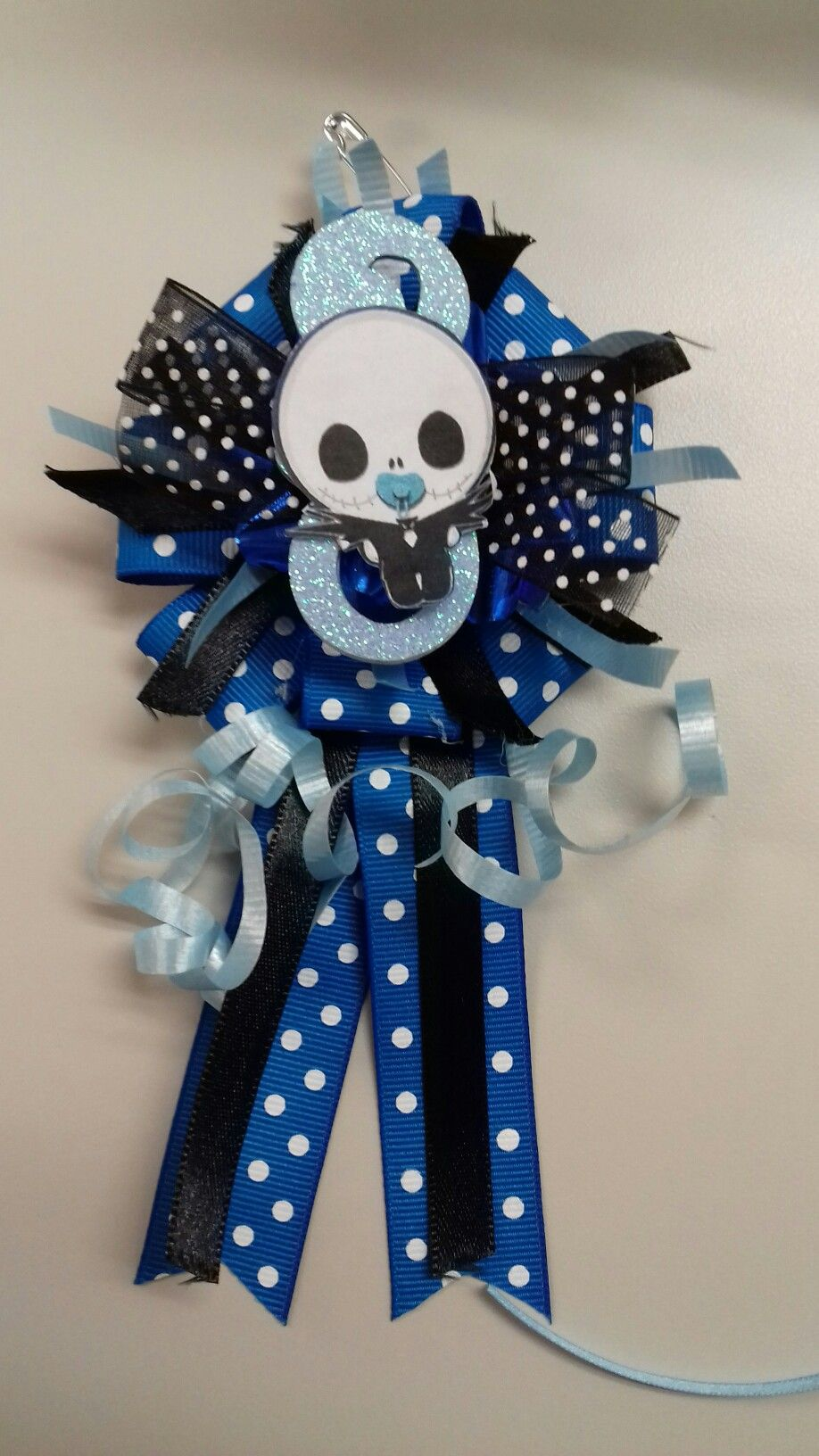 Delightful Jack Skellington Baby Shower Corsage