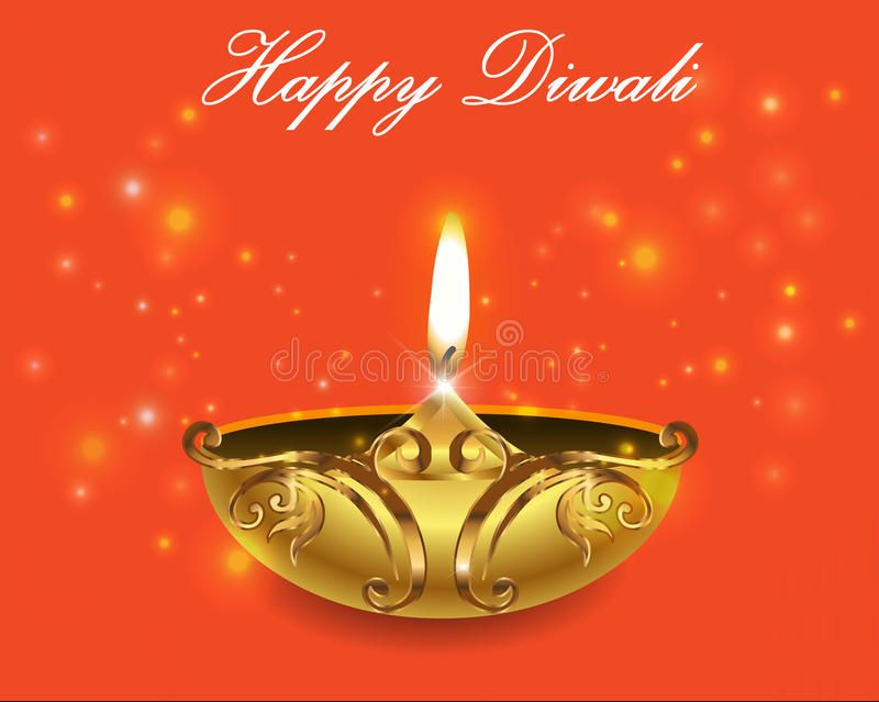 Decorative Diwali Lamps, Happy Diwali Greeting Card Stock Vector - Illustration of creative, colorful: 60237355
