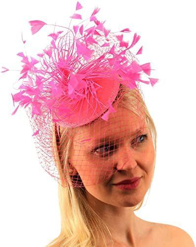 Best Seller Flirty Feathers Netted Veil Fascinators Headband Cocktail Derby Church Hat online - Totoppremium