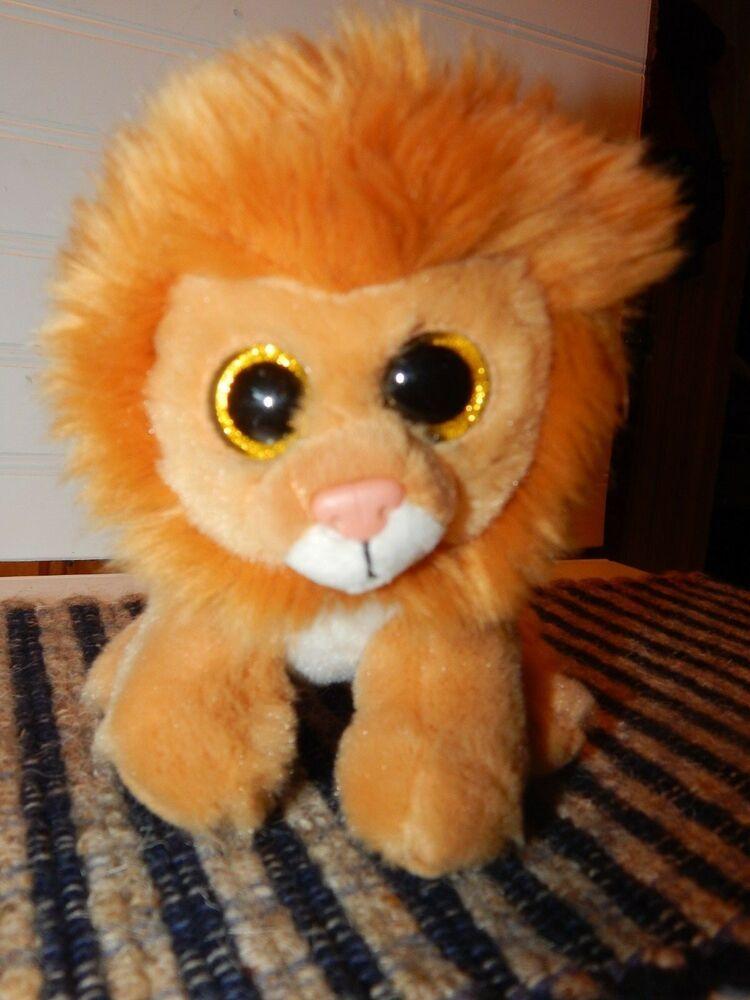 TY Beanie Boo Louie Lion RARE RETIRED Plush 6