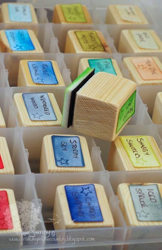 Organización de Entintadores caseros. Facebook Ideas para Craft Room. - Imagen compartida por Ortega Padial