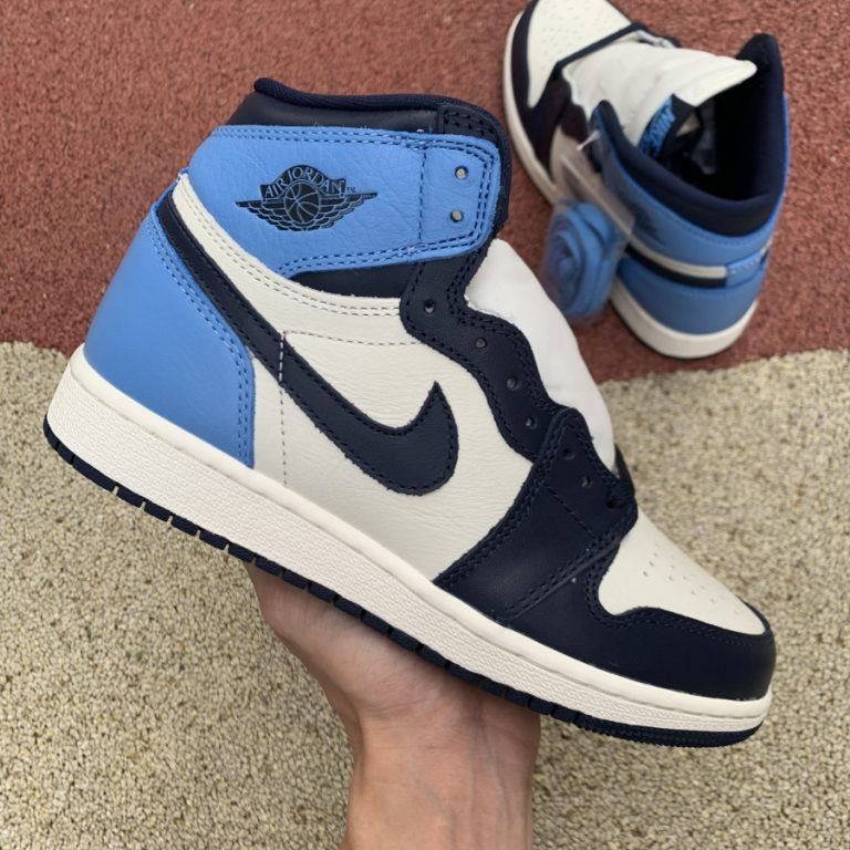 "2020 Air Jordan 1 Retro High OG ""UNC Obsidian"" For Girls"