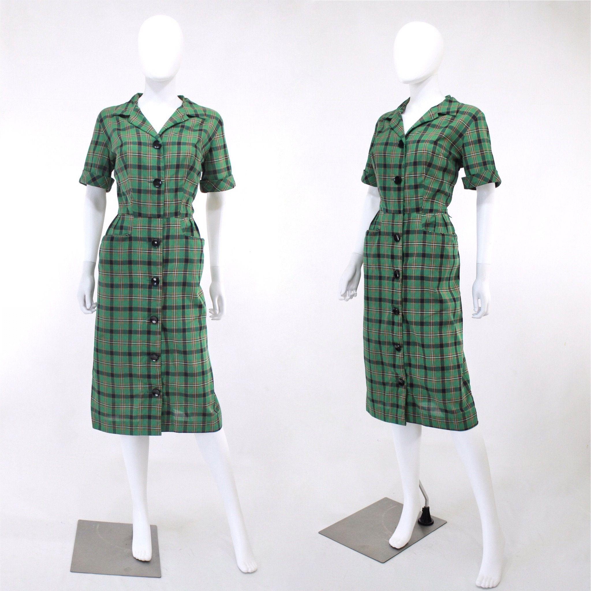 1950s Green Plaid Wiggle Dress 1950s Plaid Dress Vintage Etsy Plaid Dress Vintage Plaid Dress Vintage Dresses [ 2048 x 2048 Pixel ]