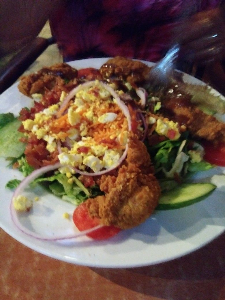 Fried Chicken Salad Carolinas Ale House Greenville Sc Downtown