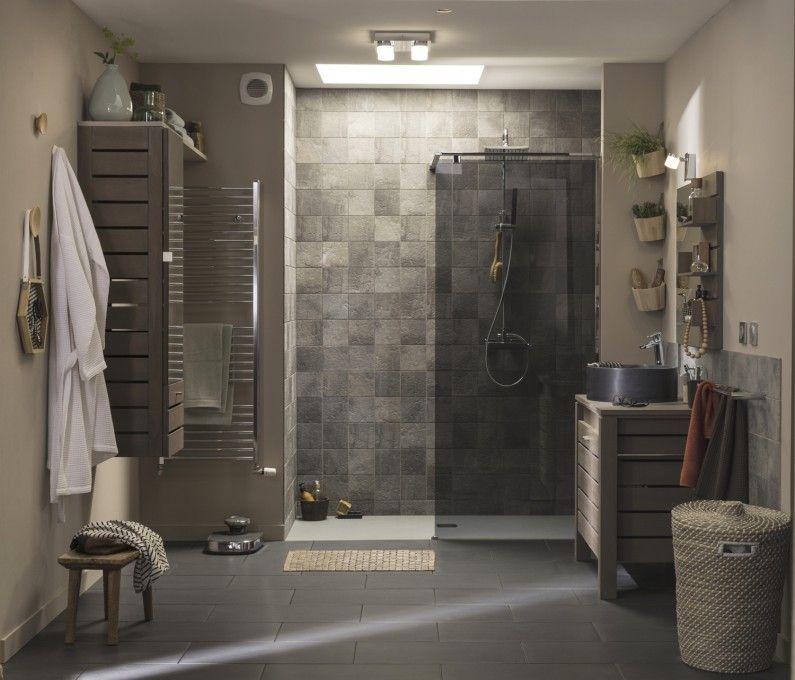 Une douche l 39 italienne dans une salle de bains nature salle de bain - Leroy merlin salle de bain douche italienne ...