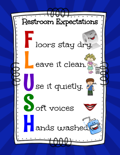 Created for a specific campus in mind these expectation - Bathroom procedures for preschool ...