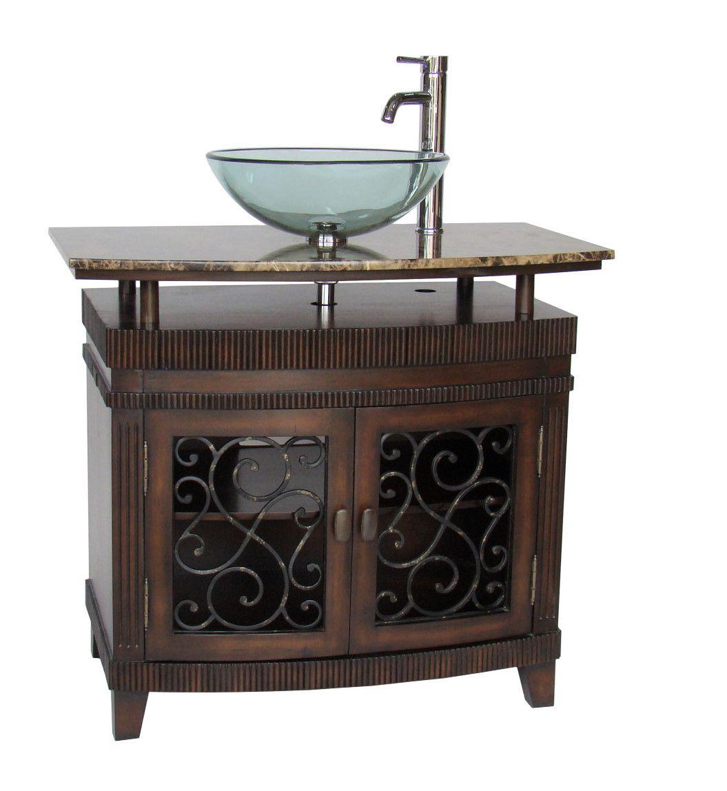 Artturi Vessel Sink Bath Vanity Q226bn Size 36x20 5x32 25 H