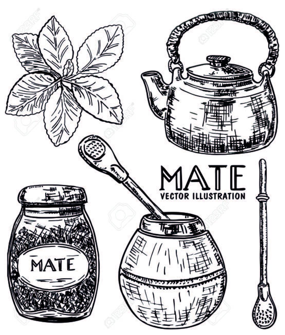Stock Photo Mate Dibujo Estilos De Dibujo Y Manos Dibujo