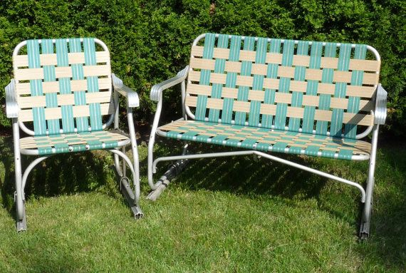 Did Somebody Say Patio Party Vintage Aluminum Green Brown