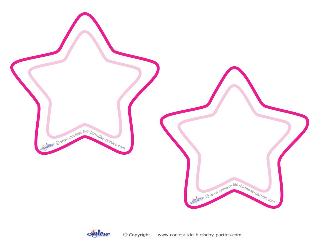 Blank Printable Round Star Invitations Coolest Free