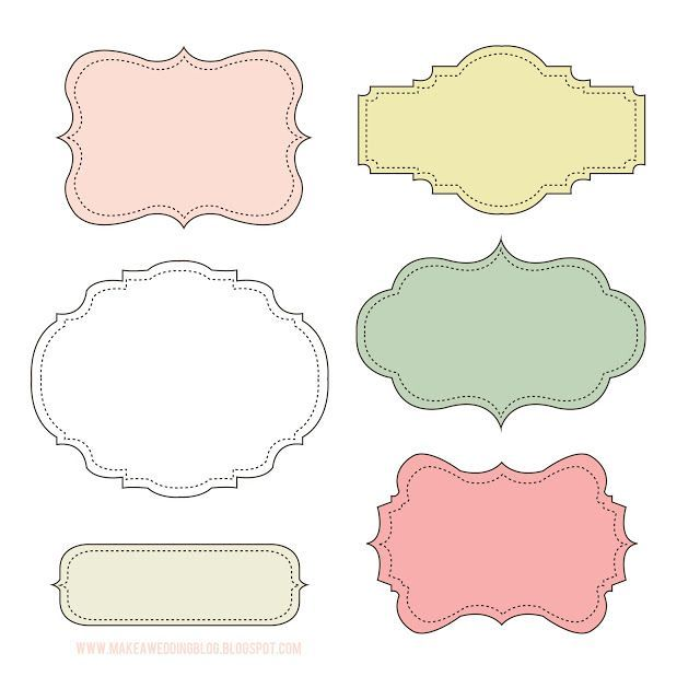 Free Label Frame Or Gift Packaging Printables  Label Templates Free
