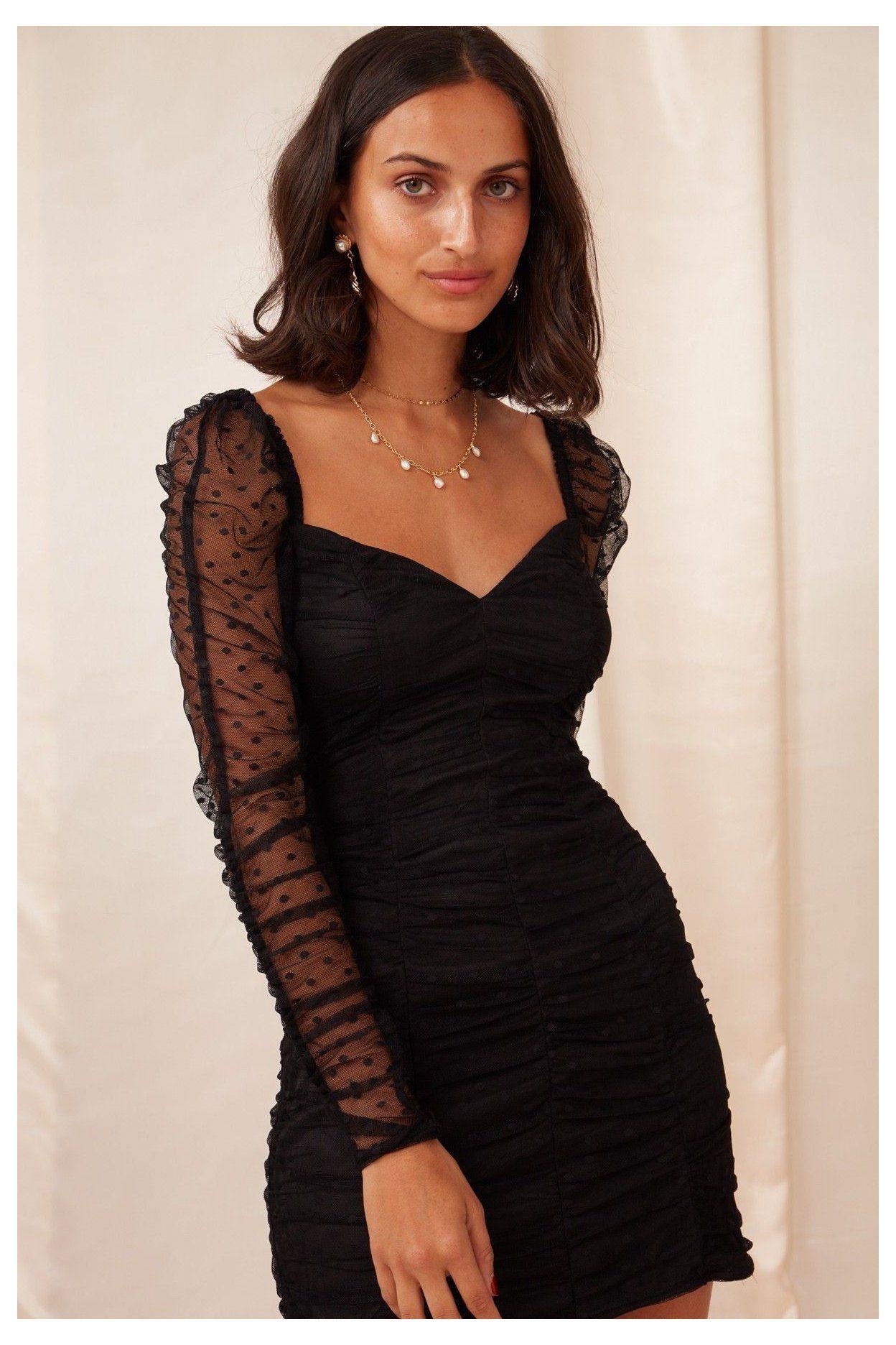 Long Sleeve Dresses Bnkr Shop Online Now Tight Formal Dresses Short Long Sleeve Tightfo In 2021 Black Long Sleeve Dress Black Short Dress Sheer Sleeve Dress [ 1872 x 1248 Pixel ]