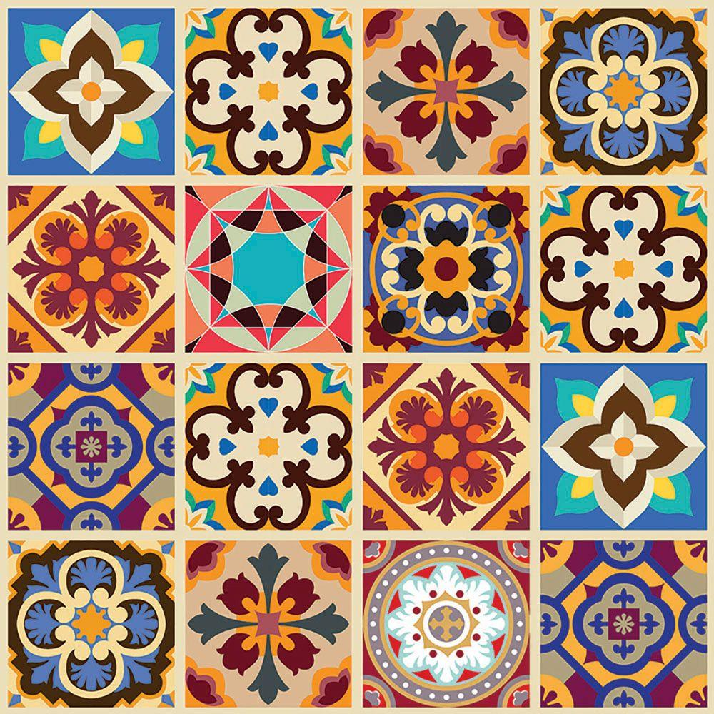 Tecido Adesivo Mosaico Phmix 50cmx1m 3000 1 Flok Tecidos E Decor Escolar Arte De Azulejos Azulejos Decorativos Azulejos Hidraulicos