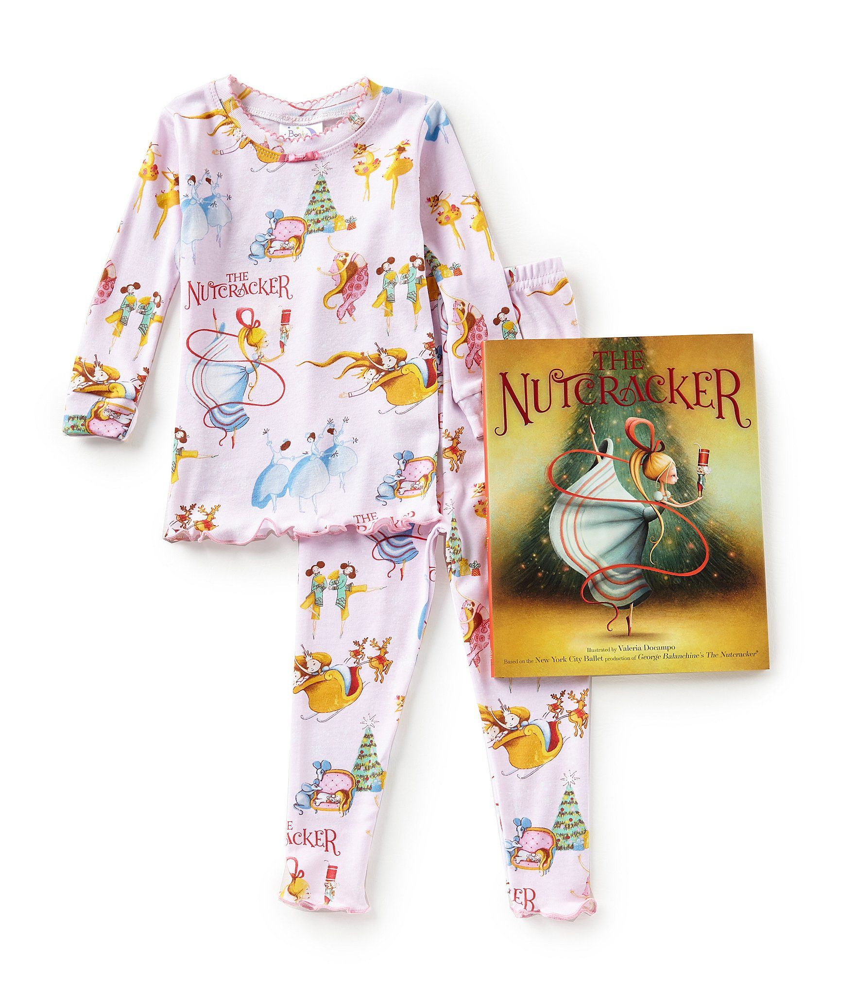 dc4ec5b6f2c5 Books To Bed LittleBig Girls 2T10 Christmas Nutcracker Pajamas and ...