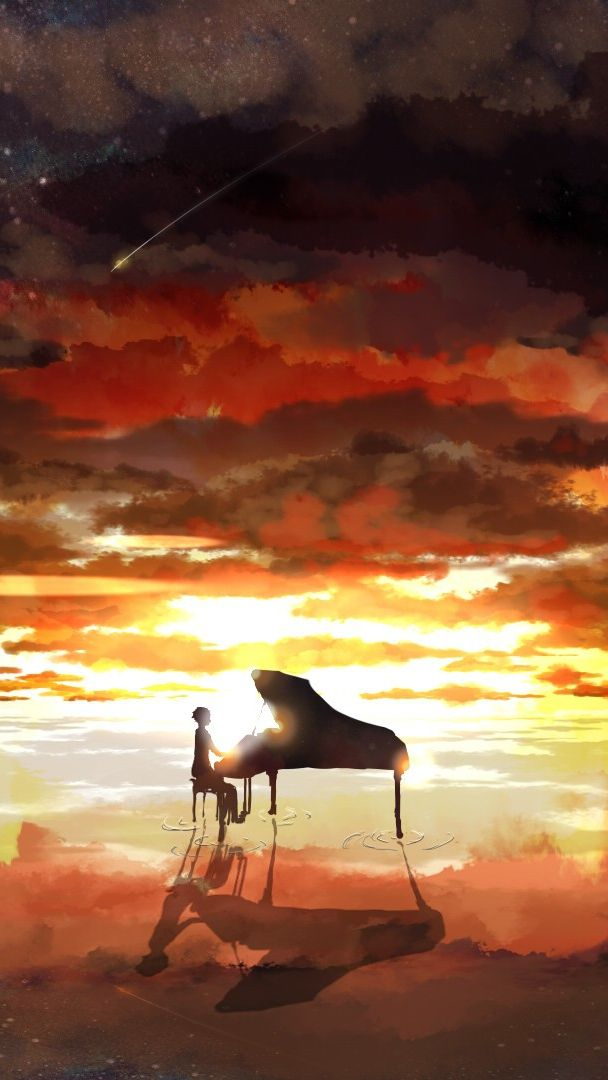 Piano rising sun anime iphone wallpaper iphone - Cool piano backgrounds ...