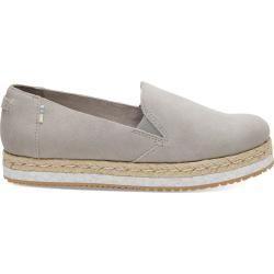 Toms Schuhe Graue Suede Palma Espadrilles Für Damen  Größe 38 TomsToms Source by ladenzeile shoes toms