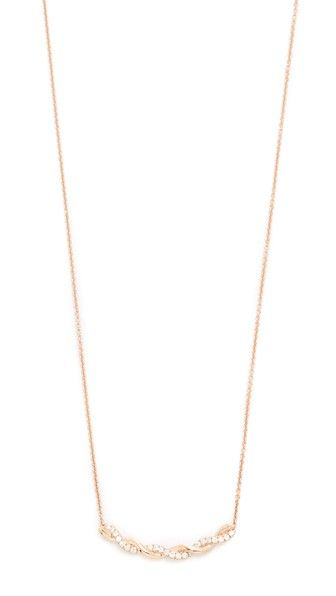 Get this DANA REBECCA's necklace now! Click for more details. Worldwide shipping. Dana Rebecca 14k Gold Carly Brooke Twisted Necklace: Petite diamonds trim a twisted charm on this Dana Rebecca necklace. Lobster-claw clasp. 14k rose gold. Total diamond weight: 0.1ct. Imported, India. Measurements Length: 7.75in / 20cm (collar, cadena, cadenas, collera, colleras, collar, colgante, necklaces, necklace, kette, collar, collier, collana, collares)