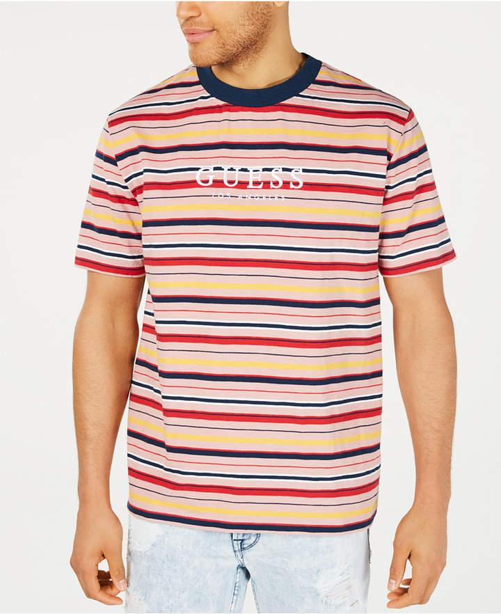 försäljning återförsäljare bästsäljare äkta skor GUESS Men Striped Logo T-Shirt in 2020 | Guess shirt, T shirt ...