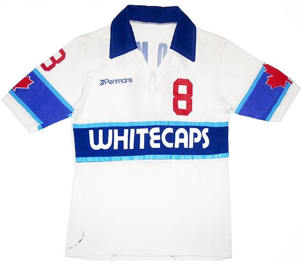 1980-81 Vancouver Whitecaps Match Issue Home Shirt Thomas #8