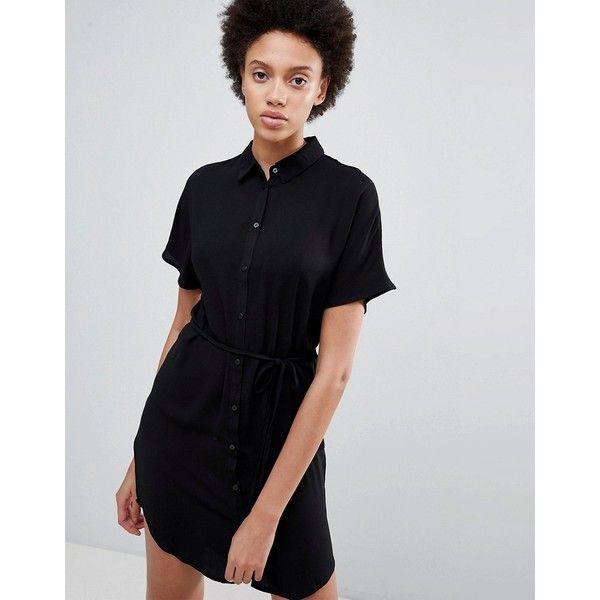 Unique21 Belted Shirt Dress - Black Unique21 Clearance Cheap Online IJfOJtZ