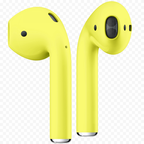 Yellow Fluo Apple Airpods 2 Generation Apple Airpods 2 Apple Generation