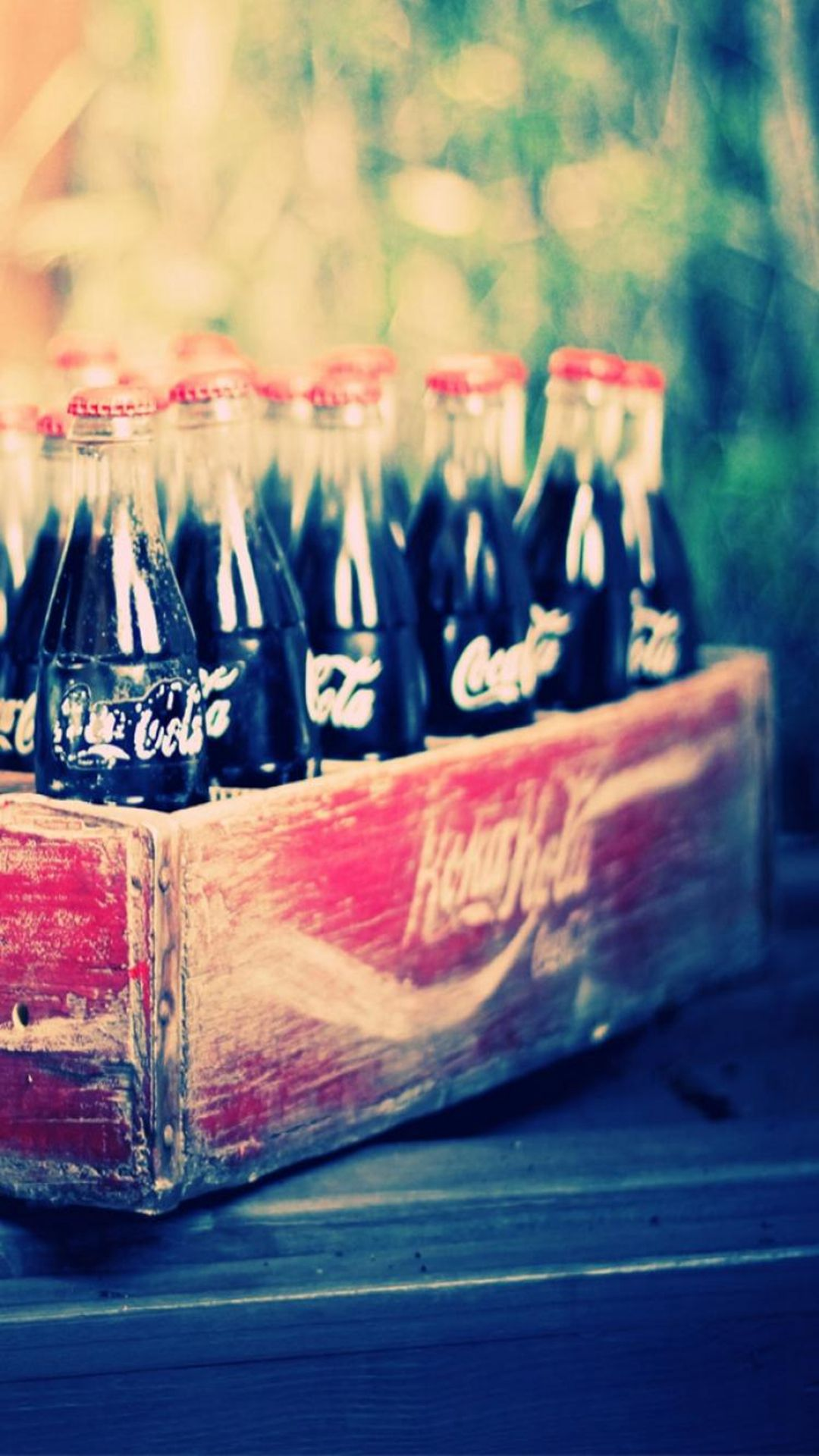 Wallpaper For Teenage Girl Phone Vintage Classic Coca Cola Box Iphone 6 Plus Wallpaper