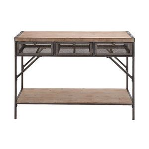 Woodland Imports Perfect Wood Metal Console Table