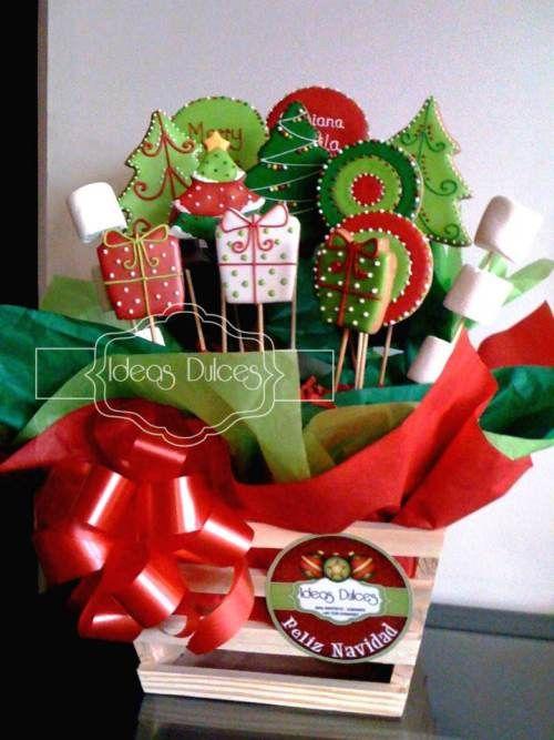 Arreglo galletas tem ticas de navidad para el regalo de - Adornos navidenos artesanales ...