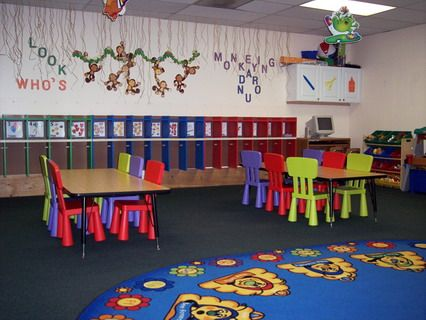 Colorful Furniture And Wall Decoration For Preschool Kindergarten