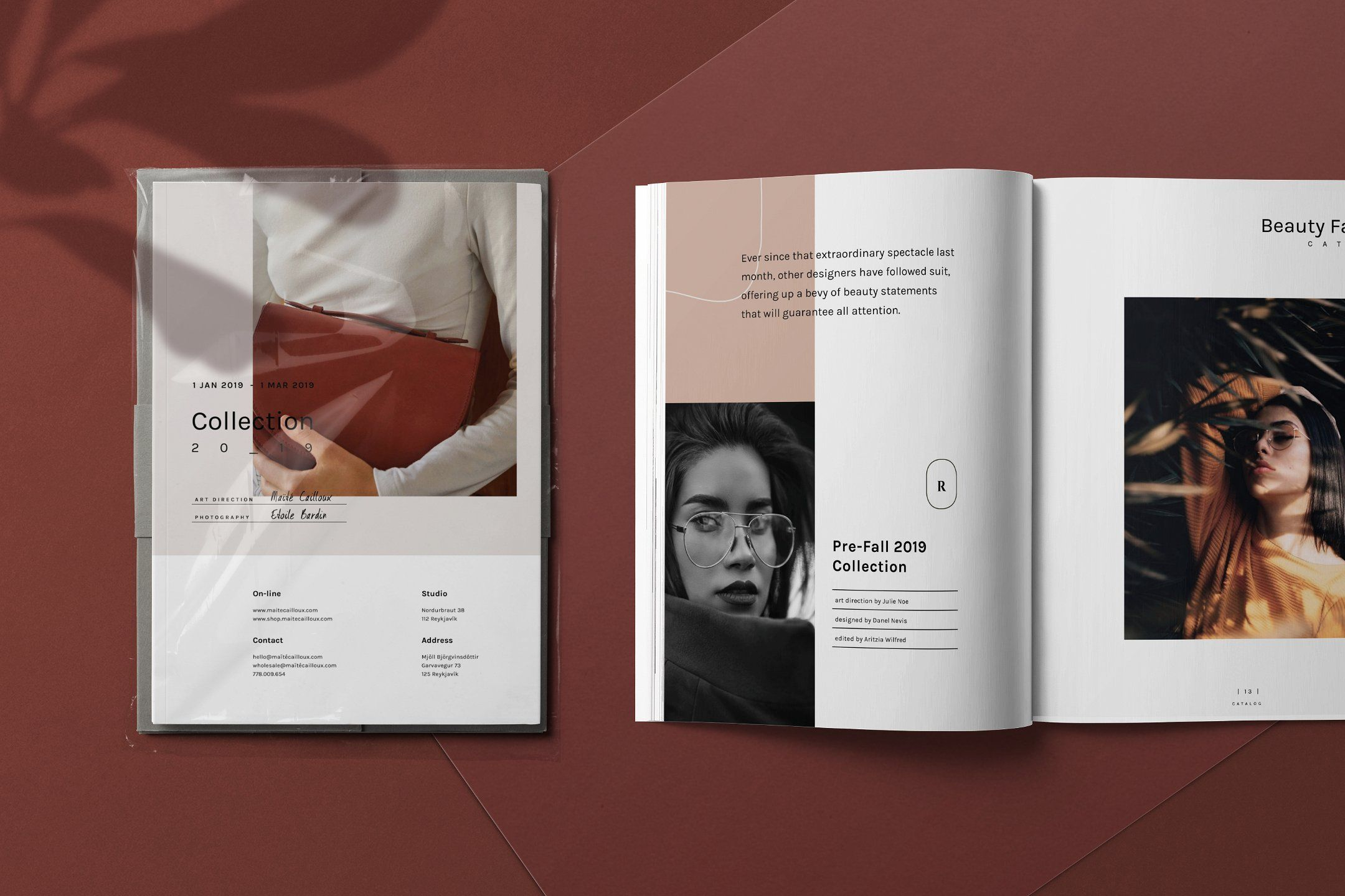 photograph regarding Printable Portfolio known as Maite - Lookbook, Portfolio, and Brochure Template. A