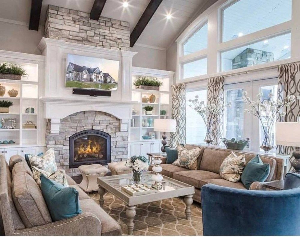 46 The Best Vaulted Ceiling Living Room Design Ideas #vaultedceilingdecor 46 The Best Vaulted Ceiling Living Room Design Ideas - Trendehouse #vaultedceilingdecor