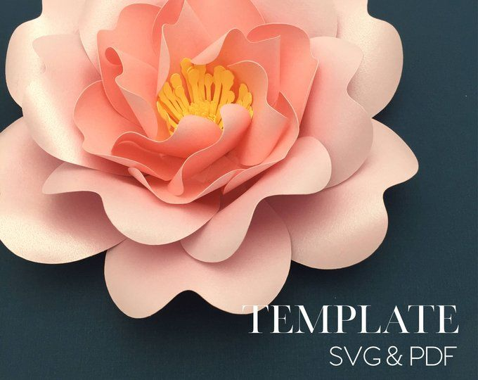 blooming rose template svg  digital file only