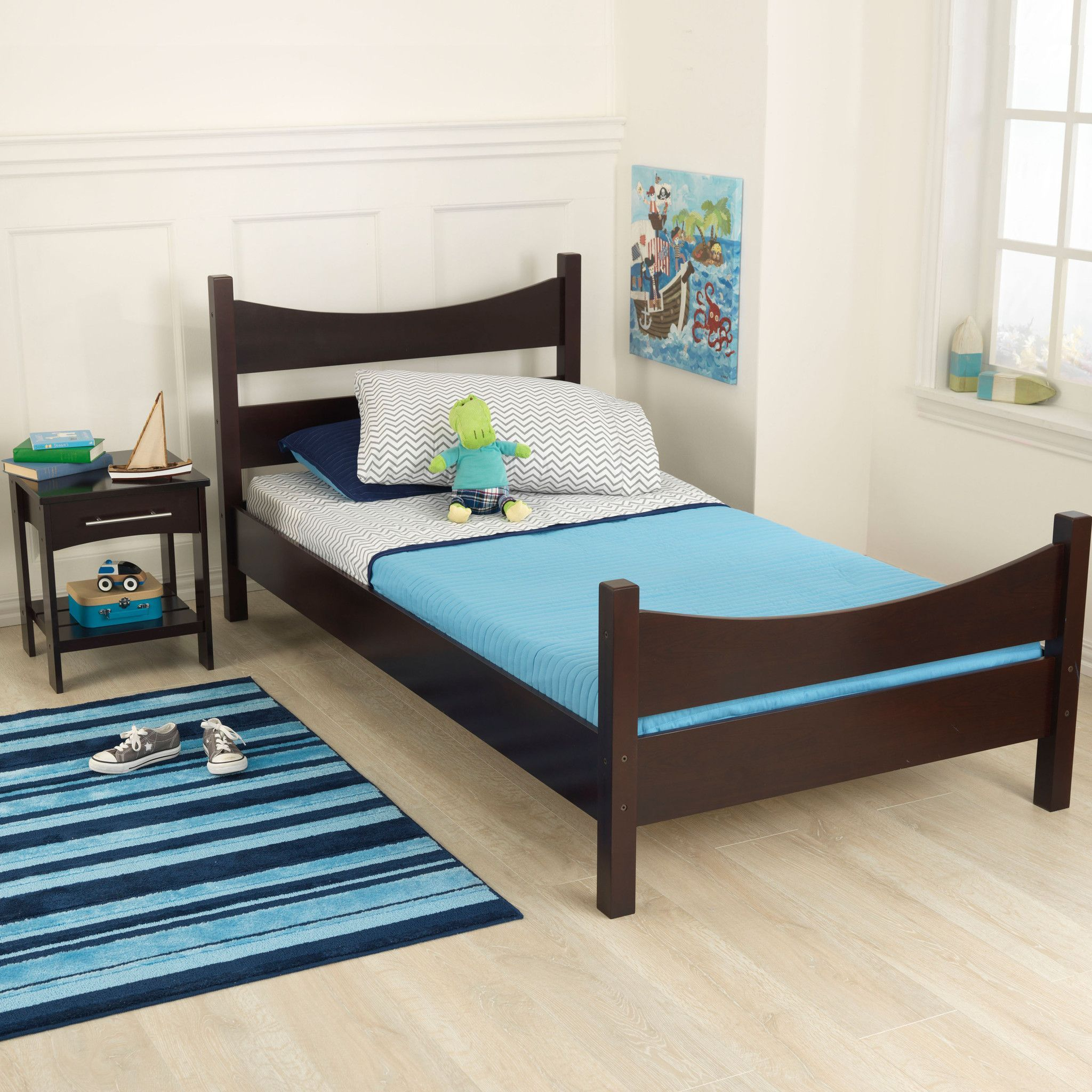 Kidkraft addison twin bed espresso twin beds espresso and