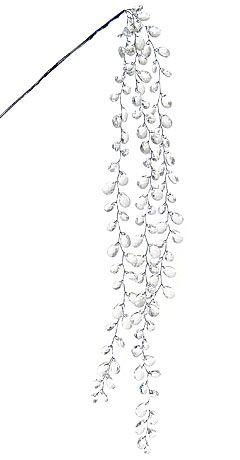 """25"""" Hanging Icedrop Crystal Bead Spray. We could hang crystal beads too. This one is $5.89, and it's kind neat how the beads come off to the sides like leaves."""