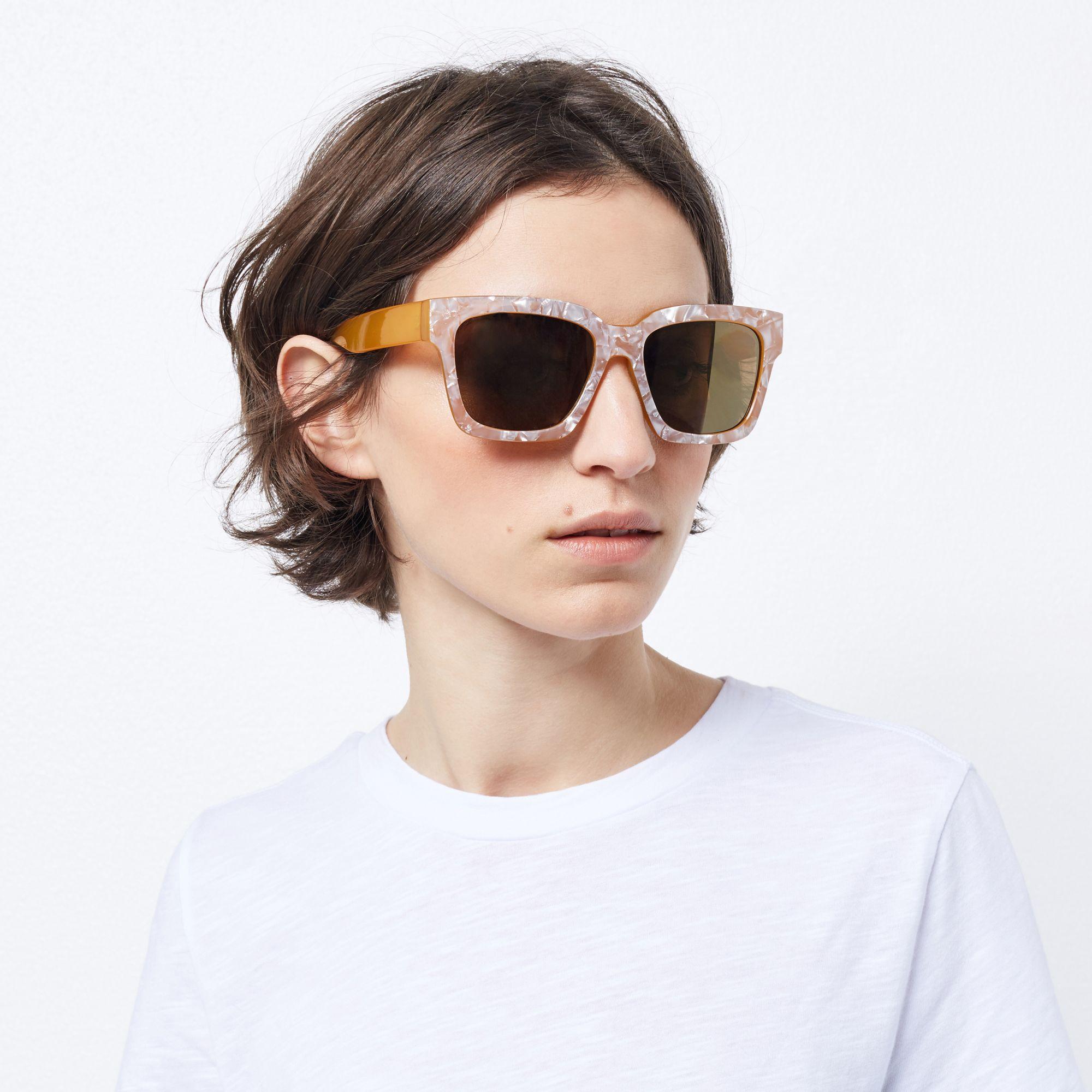Warehouse, D Frame Sunglasses Yellow 2 Sunglass frames
